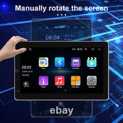Double 2 DIN Rotatable 10.1'' Android 9.1 Touch Screen Car Stereo Radio GPS Wifi