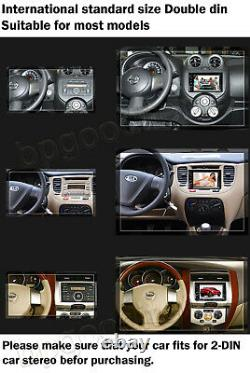 Double 2 Din Car Stereo CD DVD Player Touchscreen Radio Bluetooth AM FM USB AUX