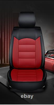 Full Set 5-seat Car Seat Cover Front & Rear PU Leather For Interior Accessories