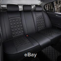 Luxury Car Seat Covers 5-Seats Interior Front+Rear Full Set Cushions SUV Auto