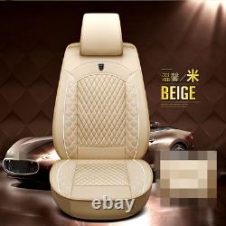 Luxury Edition Car Seat Covers PU Leather 5-Seats Front&Rear Cushion Full Set
