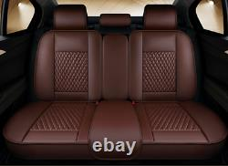 Luxury Full Set Car Front Rear PU Leather Car Seat Cover Cushion 5D Breathable