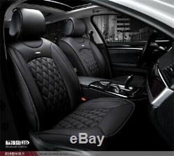 Luxury Full Surrounded PU Leather Seat Cover Cushion 5-Seat Car SUV US shipment
