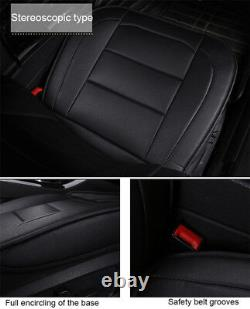 Luxury PU Leather Car 5-Seat Seat Covers Protector Cushion Mat For All Seasons