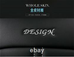 Luxury PU Leather Car Seat Covers Cushion Full Set For Interior Accessories