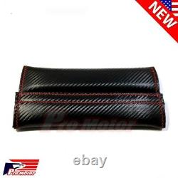 Luxury Red Carbon Fiber Style Seat Belt Cover Shoulder Pad Cushion Protector P2