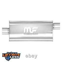 MagnaFlow 12226 2.5 Inlet/Outlet Satin Stainless Steel Muffler