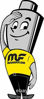 Magnaflow 51206 High-Flow Catalytic Converter Round 2.5 In/Out OEM GRADE OBDII