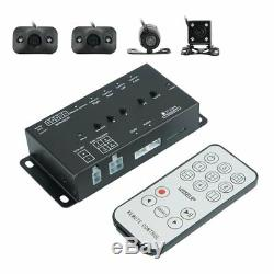 New 360° Car DVR Dash Kit 4 Cameras + Screen Splitter + 7inch Monitor with Remote