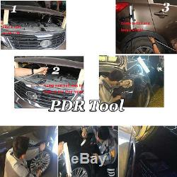 PDR Push Rods Spring Steel Tool Paintless Dent Repair Auto Body Set Hail Removal