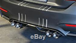 Pair 63-89MM Glossy Carbon Fiber Auto Dual Exhaust Pipe Tail Exhaust Muffler Tip