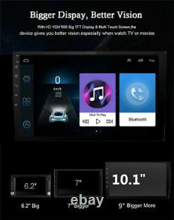 Quad Core Android 8.1 4G WIFI 10.1 Single 1DIN GPS DAB Car Radio Stereo Player