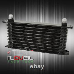 Rear Differential High Flow Oil Cooler+Filter Relocation Kit 18 Row Drift Turbo