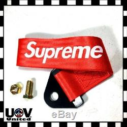 Supreme High Strength Sports Racing Tow Strap Front Rear Bumper Towing Hook U1