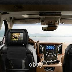 Universal 7 SUV Car Headrest Monitors withDVD Player/USB/IR Remote With Headset