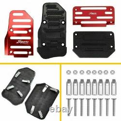 Universal Non-Slip Automatic Gas Brake Foot Pedal Pad Cover Accessories Kit 2pcs